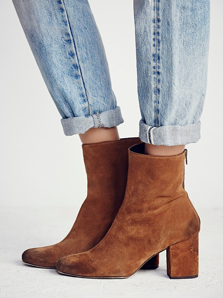 Free people World Tour Ankle Boot in Brown | Lyst