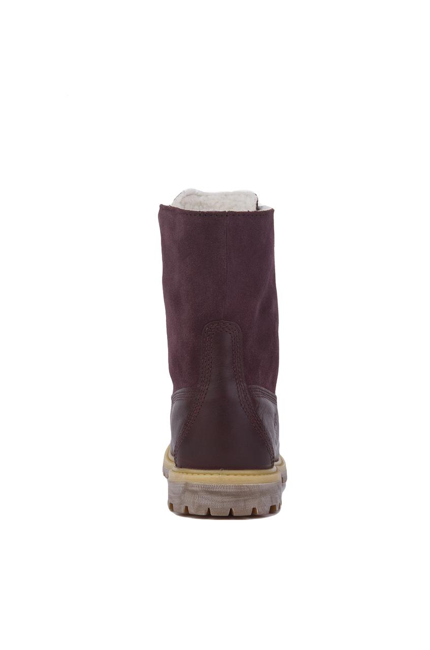 timberland auth teddy fleece purple womens boots