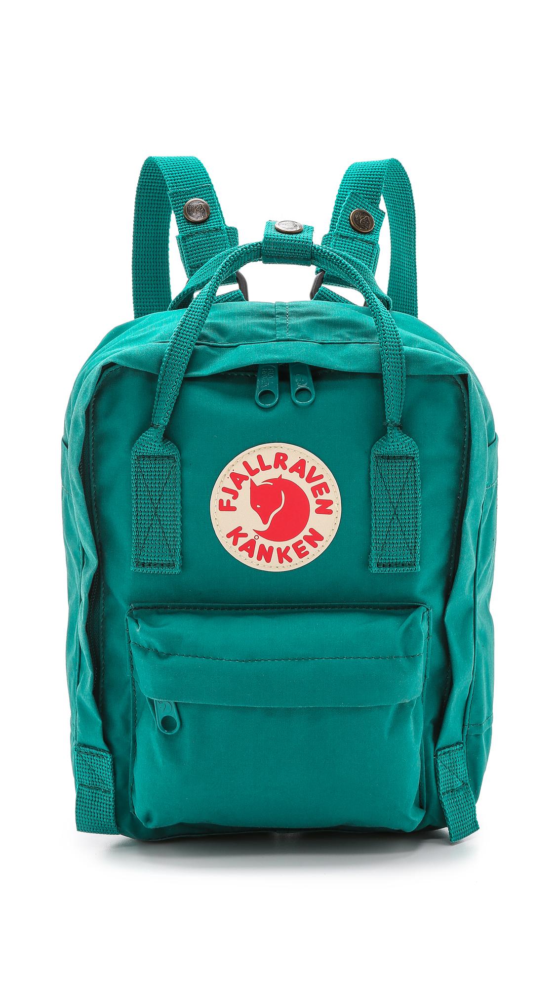 fjallraven kanken mini backpack in green lyst. Black Bedroom Furniture Sets. Home Design Ideas