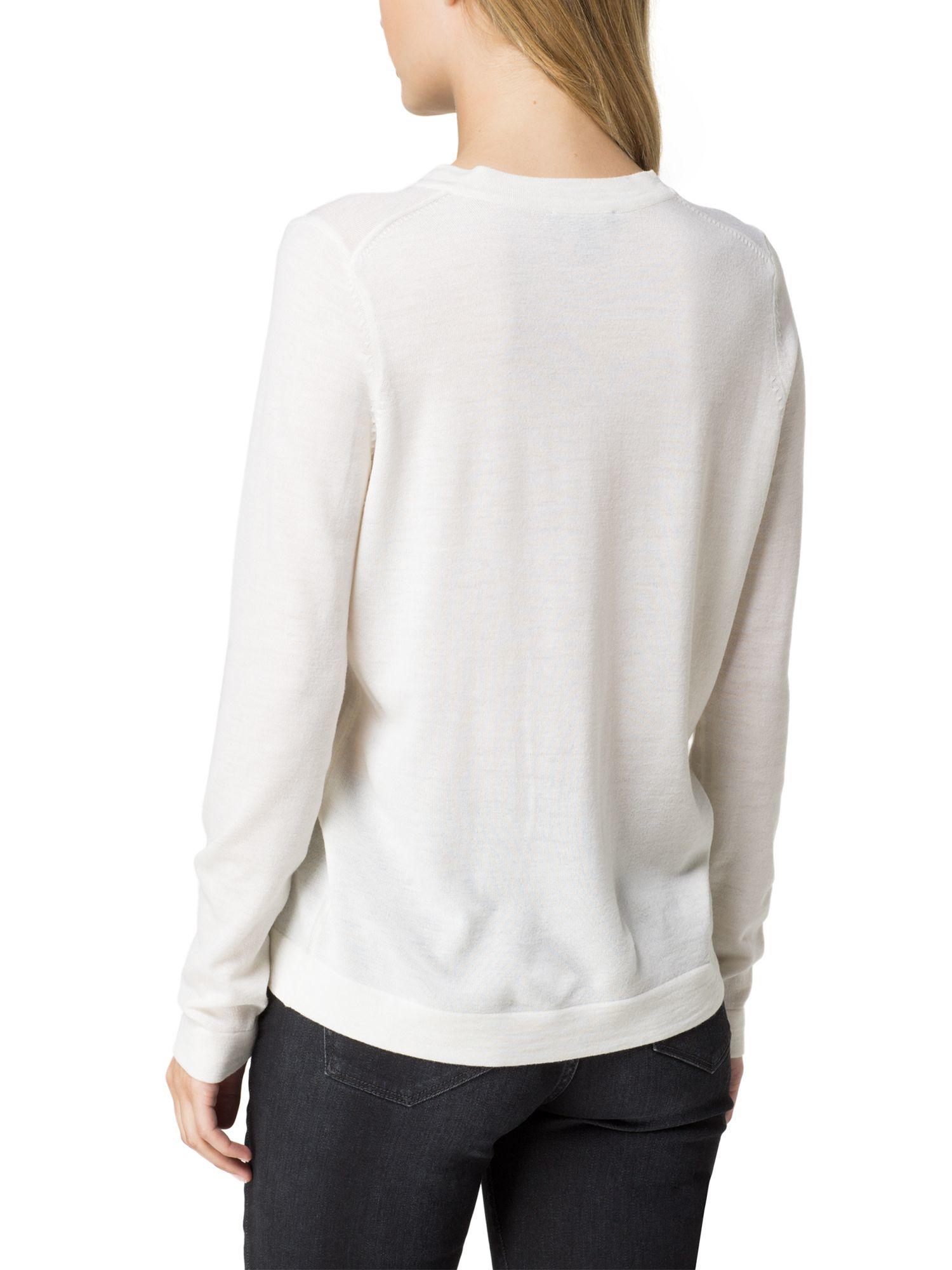 tommy hilfiger guvera sweater in white lyst. Black Bedroom Furniture Sets. Home Design Ideas