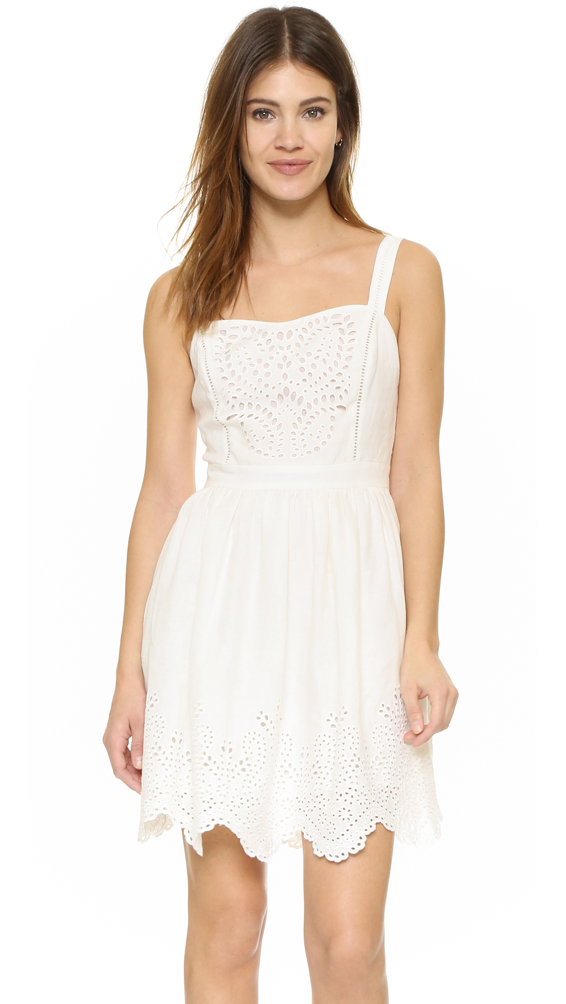 Lyst Joie Ornata Embroidered Eyelet Dress In White