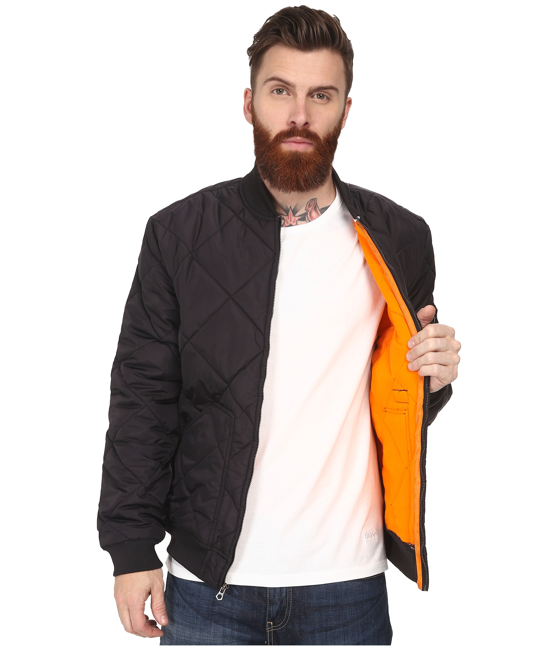 Lyst - Huf Baron Quilted Flight Jacket in Black for Men : quilted flight jacket - Adamdwight.com