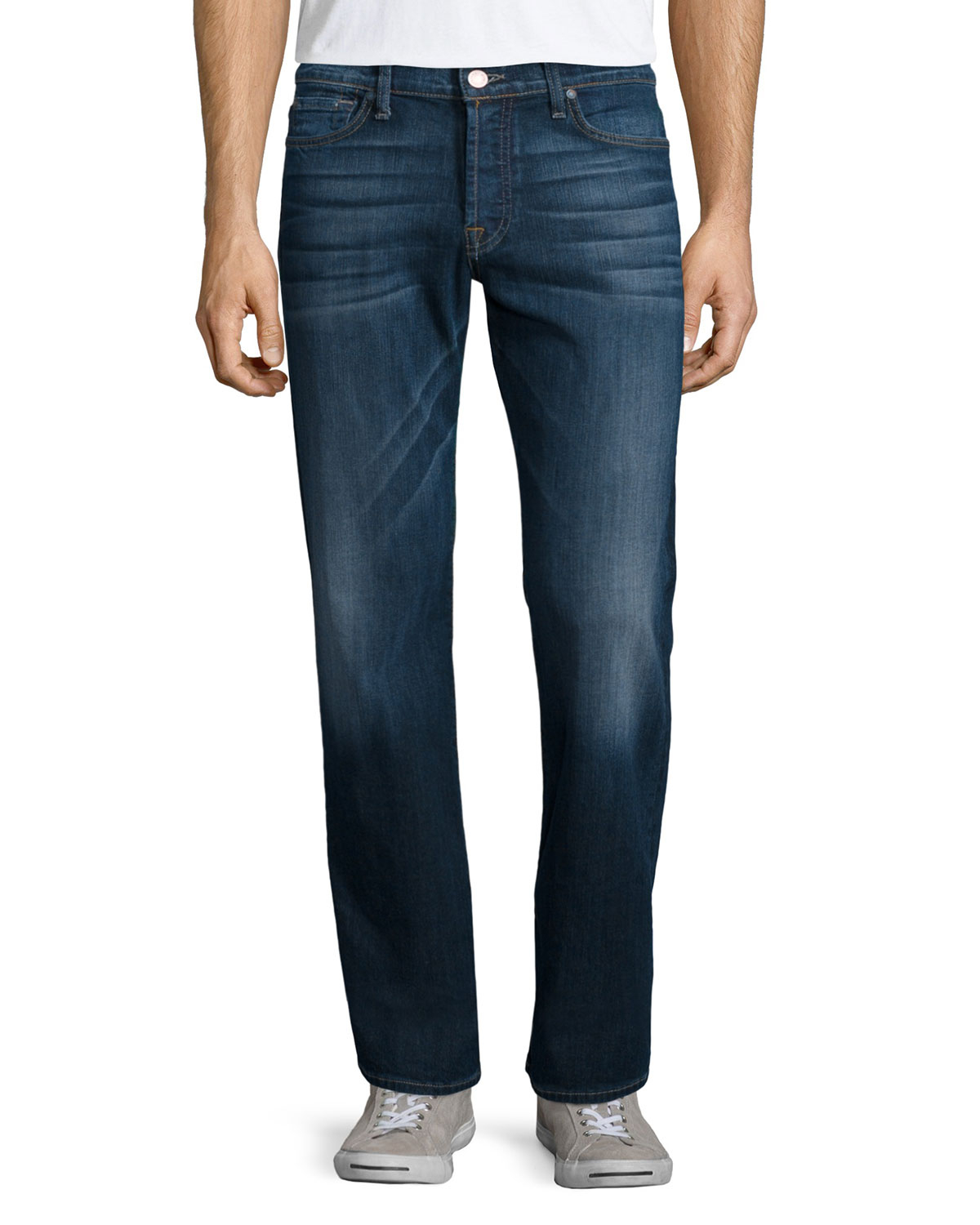 lyst 7 for all mankind luxe performance standard blue illusion jeans in blue for men. Black Bedroom Furniture Sets. Home Design Ideas