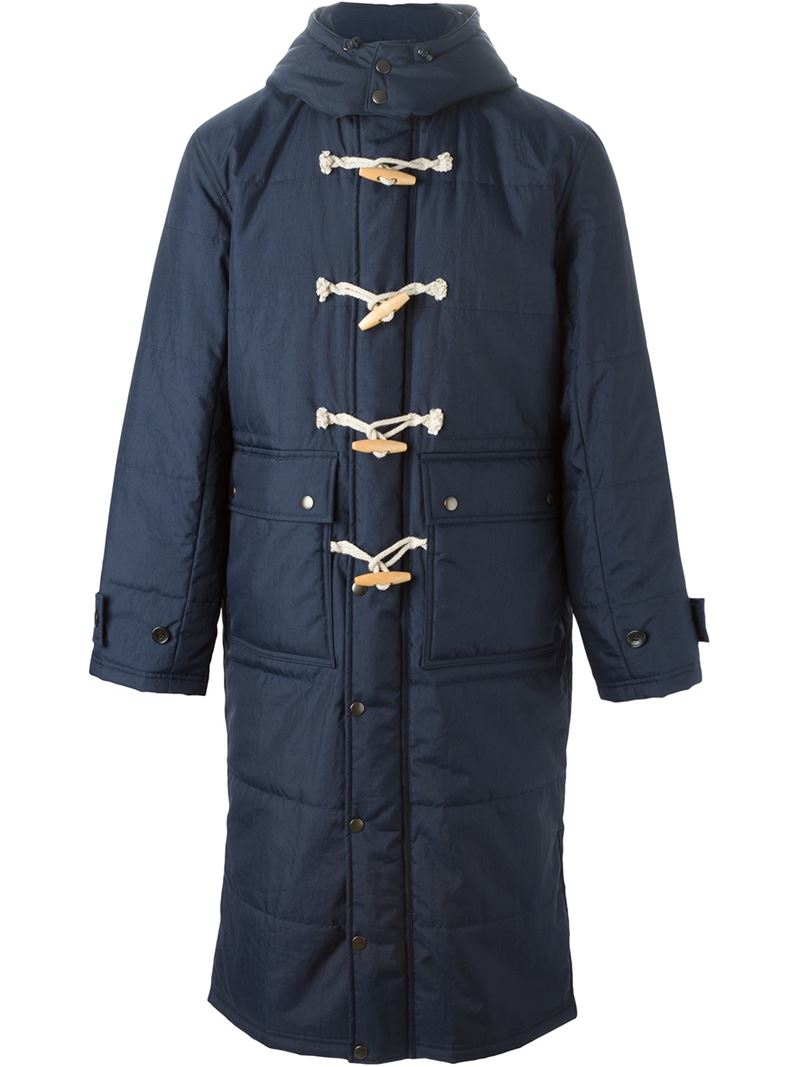 Ganryu comme des garçons Padded Duffle Coat in Blue for Men | Lyst