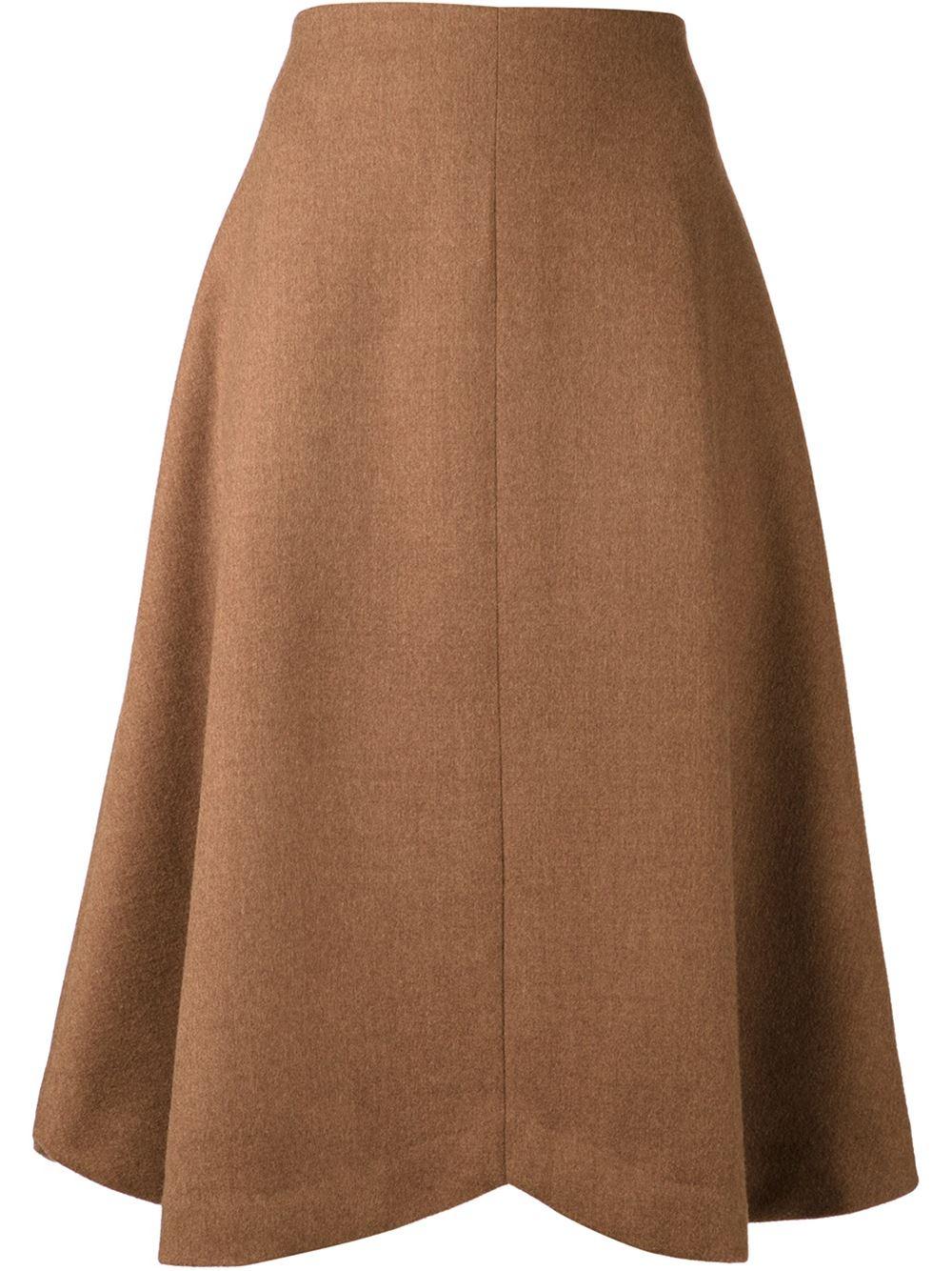 rodarte a line skirt in brown lyst