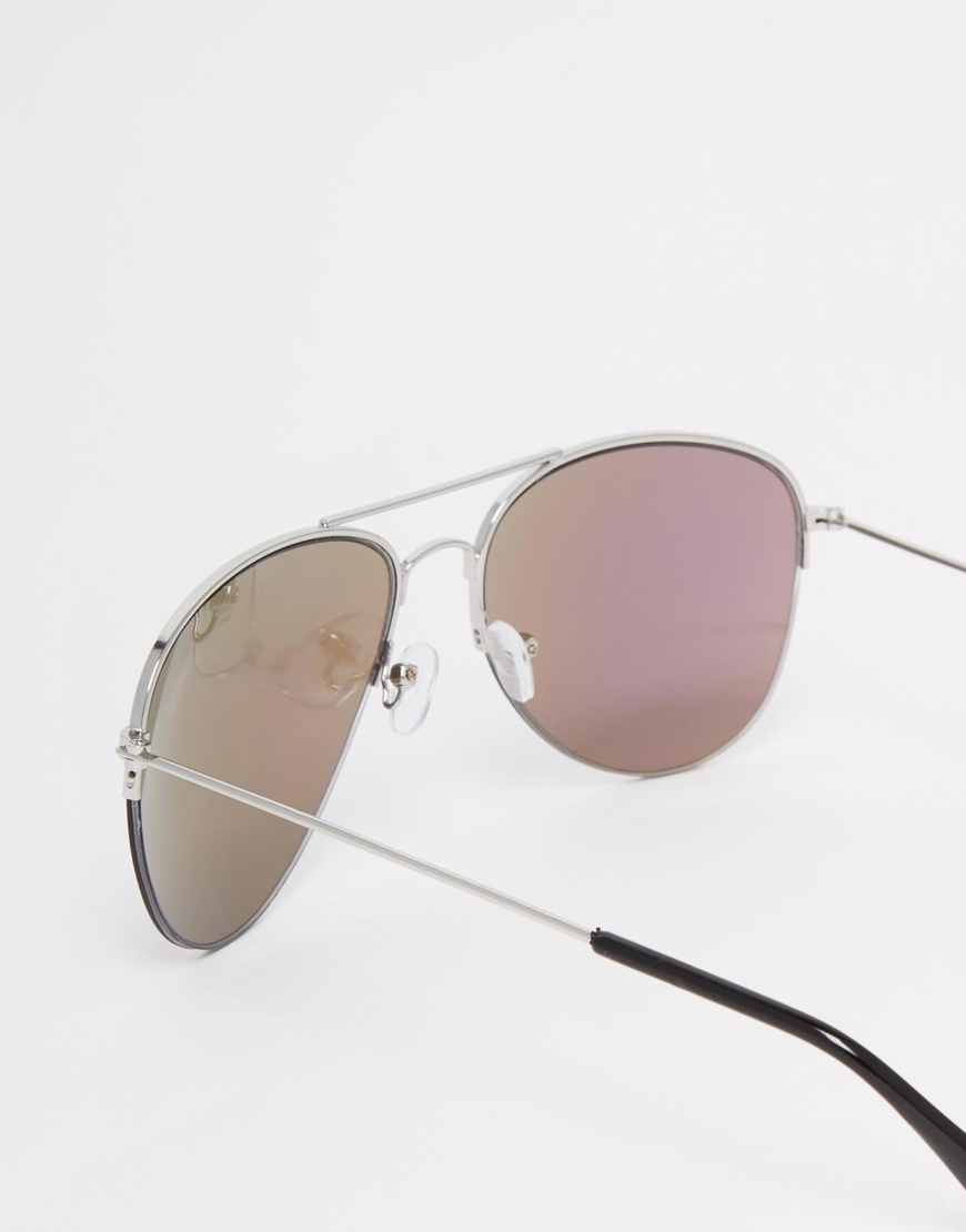 9afca2fb9c Lyst - 7x Aviator Sunglasses With Rainbow Lens in Metallic
