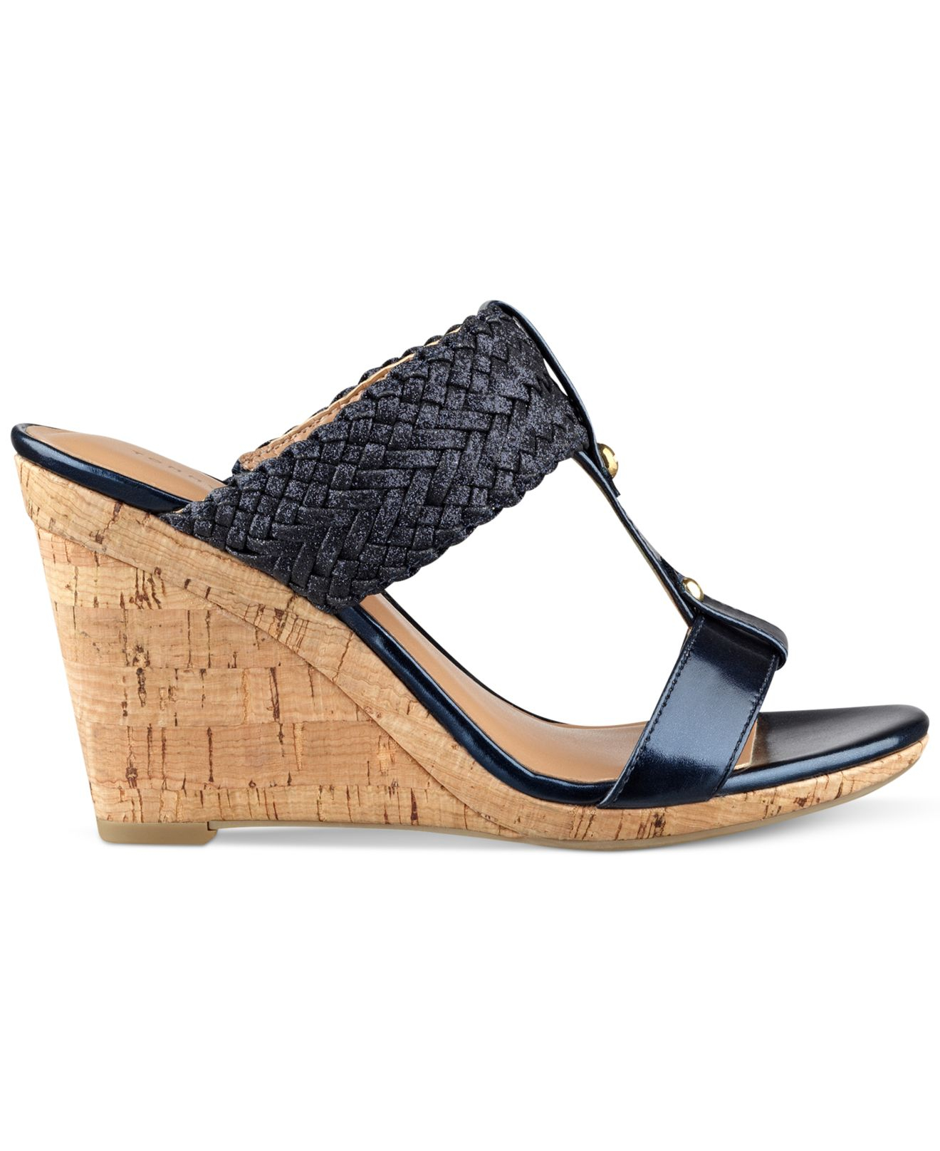 1d3d690d29b909 Lyst - Tommy Hilfiger Women s Eleona Wedge Sandals in Blue