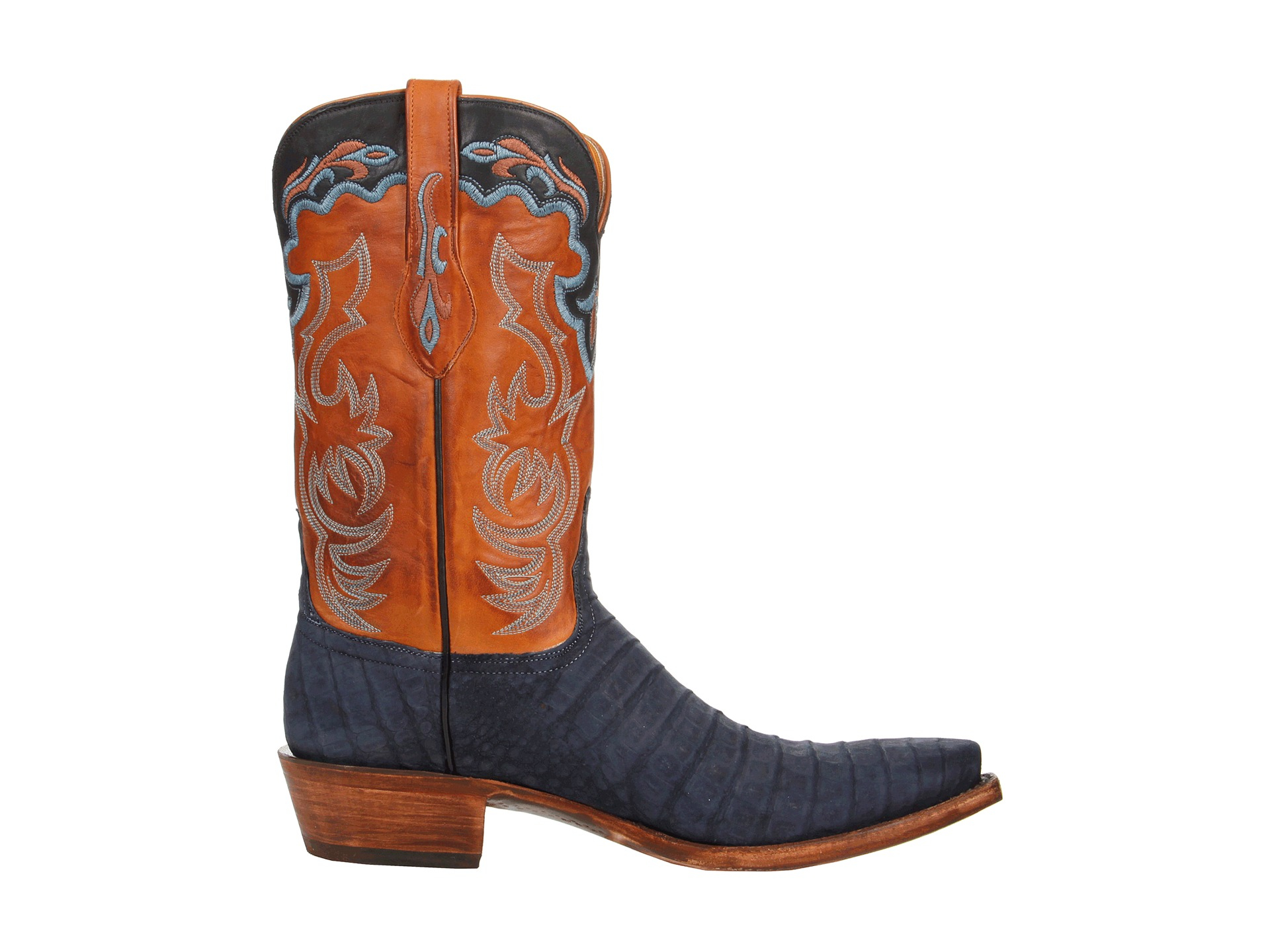 lucchese l1434 in orange for lyst