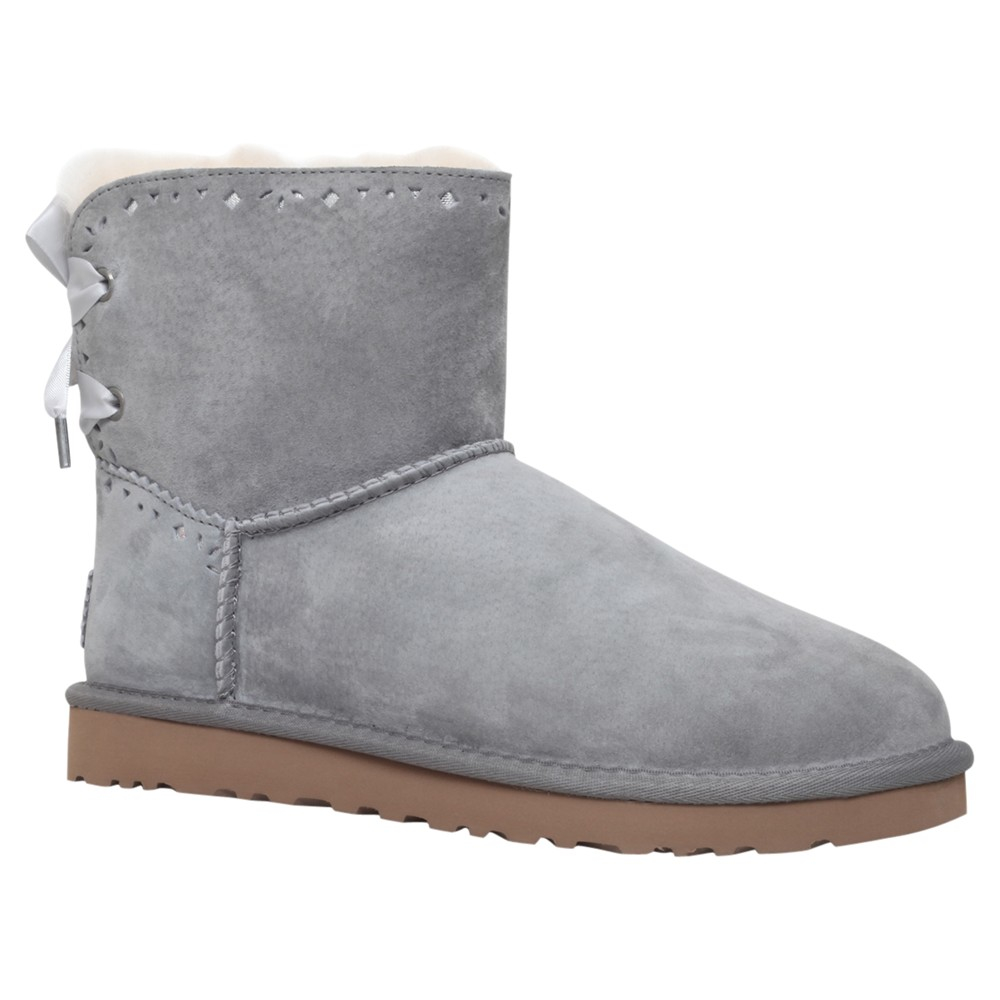 06f446b721c UGG Dixie Floral Ankle Boots in Gray - Lyst