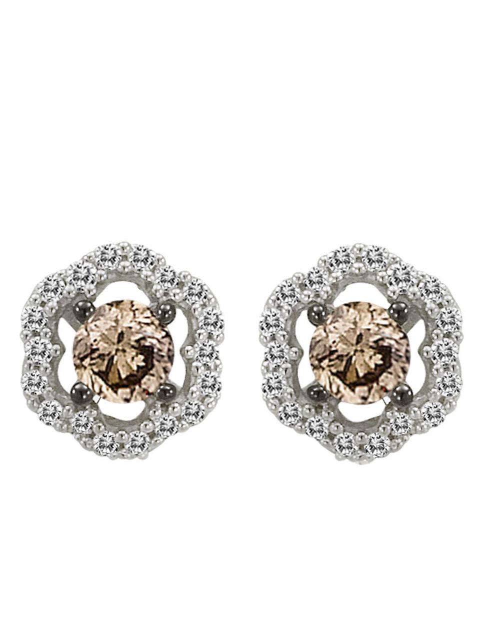 Lyst Le Vian Chocolate Diamond Stud Earrings In 14k White