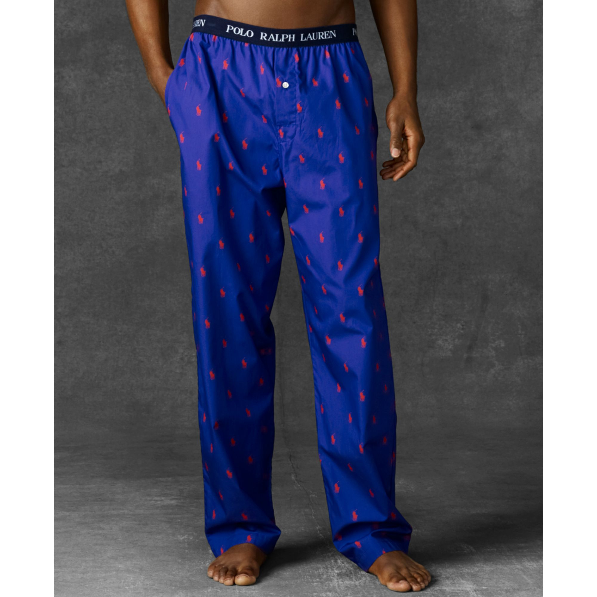 06e8a74be8 Polo Ralph Lauren Mens Knit Oxford Pajama Pants