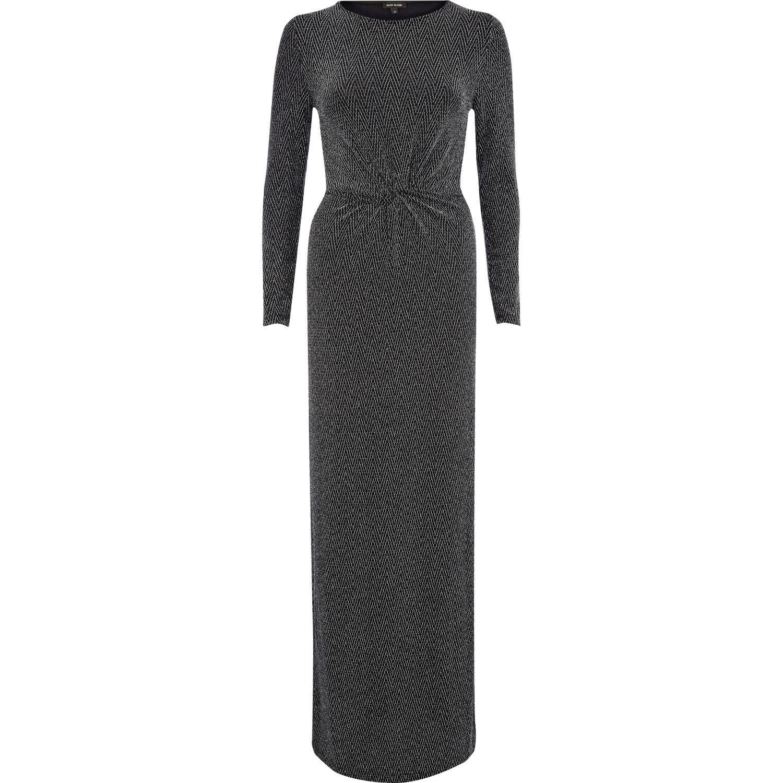 River island silver maxi dress