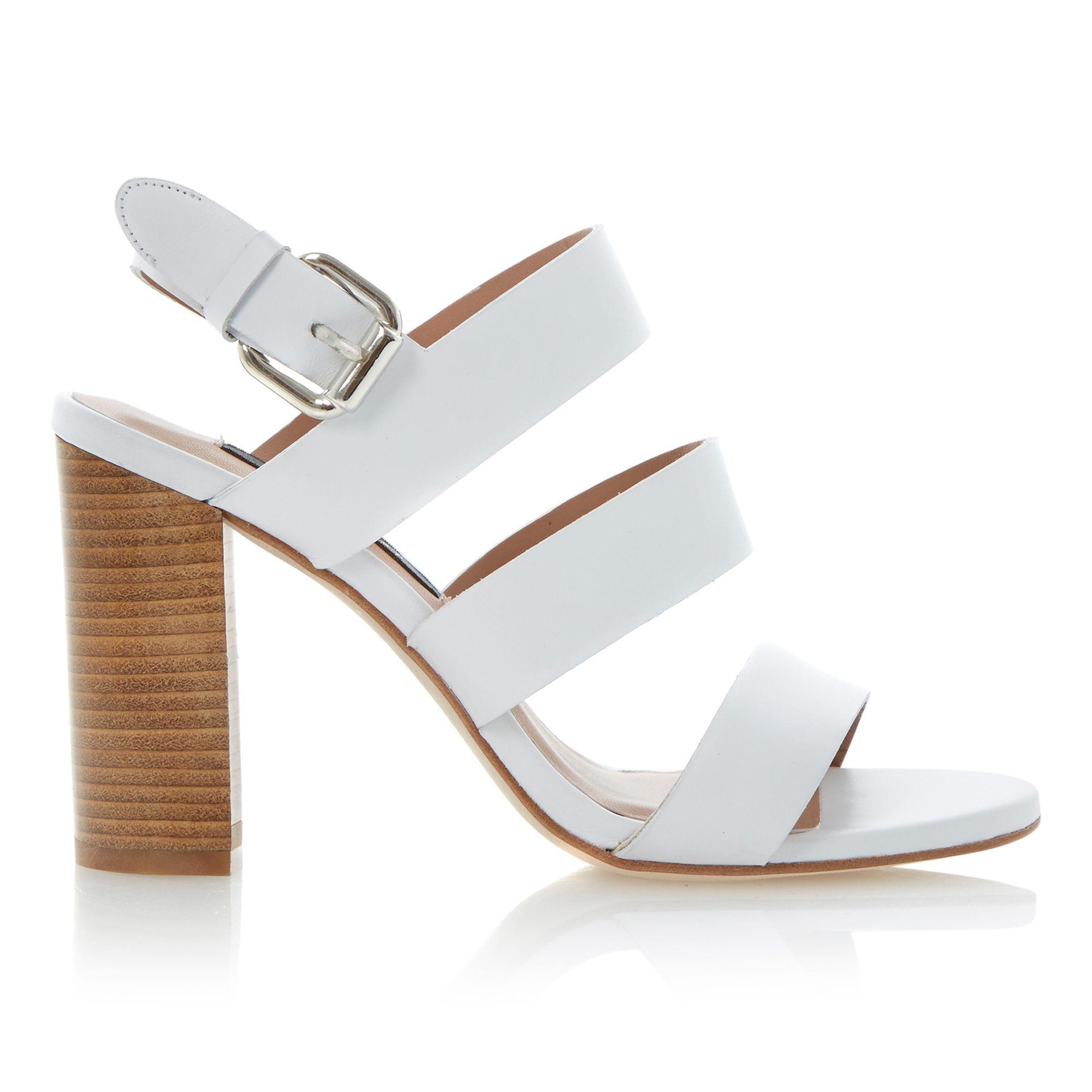 White Buckle Heels