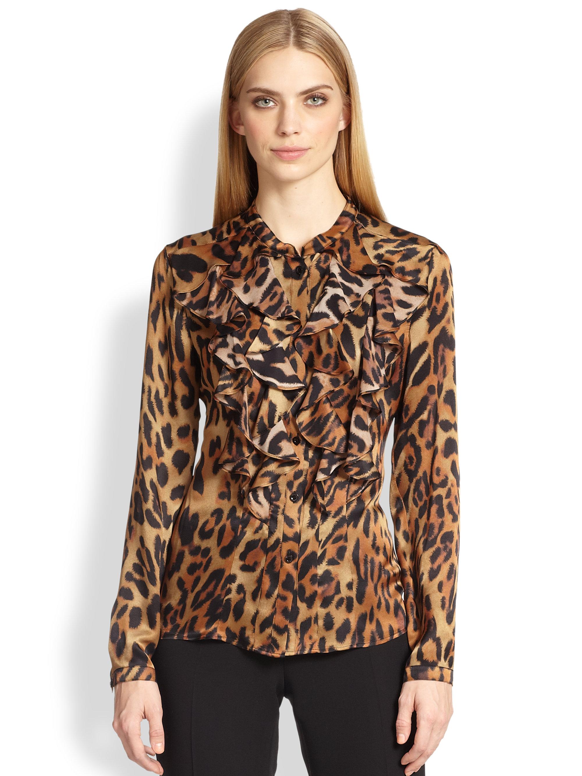 Ruffle Leopard Blouse 60