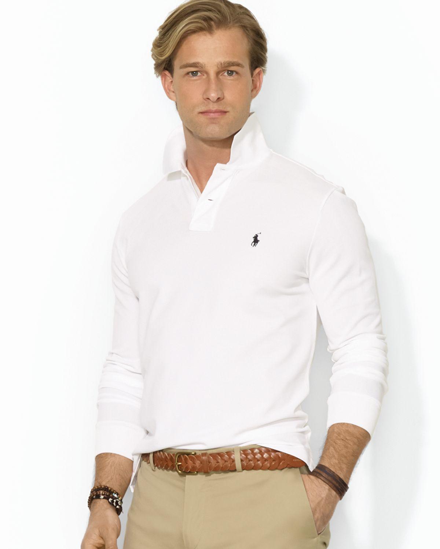 3e80376b ... men 977777 lgphxuv 0bae5 953b9; germany lyst ralph lauren polo custom  longsleeved stretchmesh polo shirt 35d9d 1434c