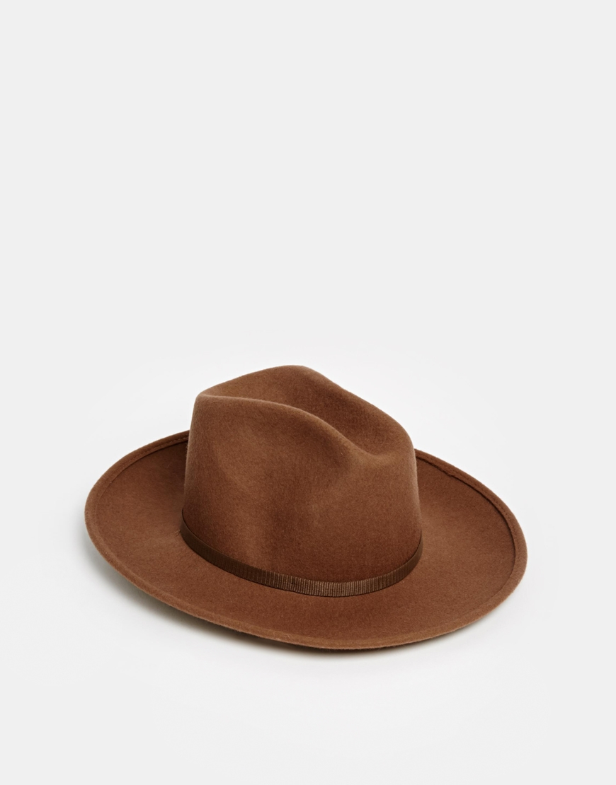 Catarzi Stetson Hat With Contrast Band in Brown - Lyst 9df64520f03