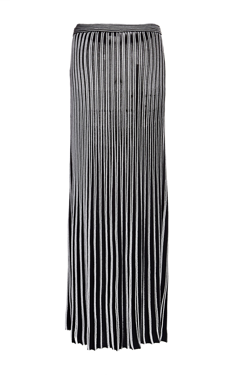 Proenza schouler Black and White Lightweight Long Pleated Knit ...