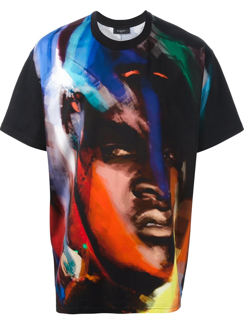 278a7bf72094 Lyst - Givenchy Abstract Face Print Tshirt in Black for Men