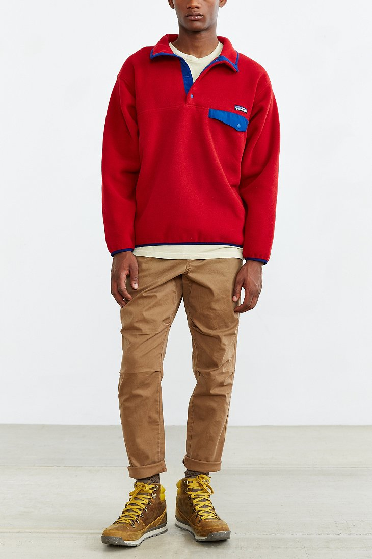 Lyst Patagonia Synchilla Snap T Fleece Pullover Jacket