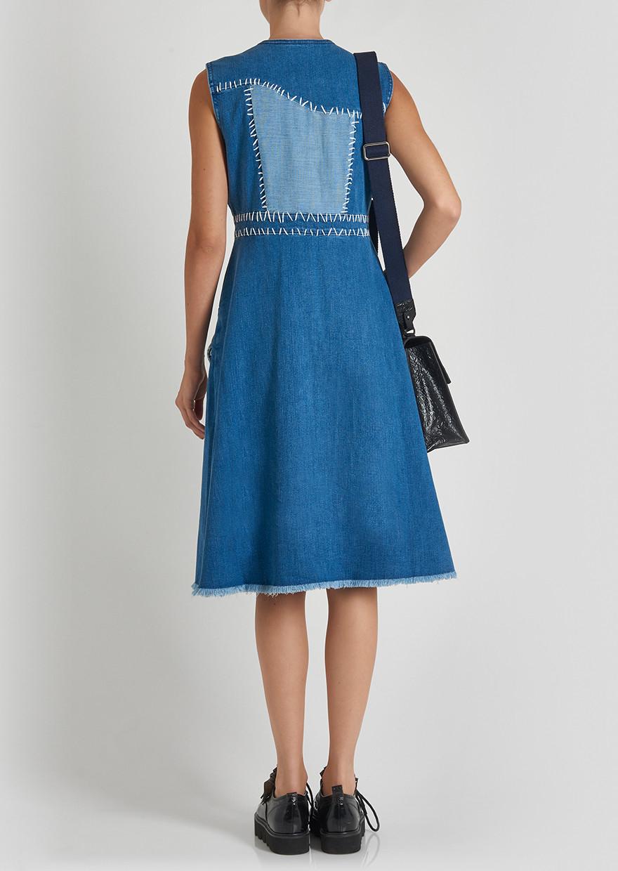 Lyst - House Of Holland Sleeveless Denim Dress in Blue