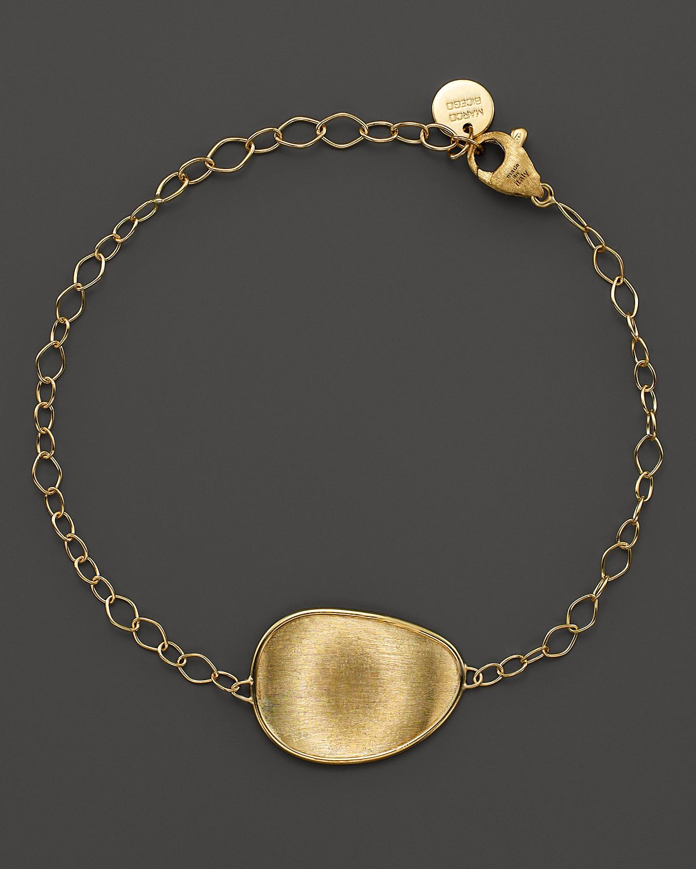 marco bicego 18k yellow gold engraved lunaria pendant