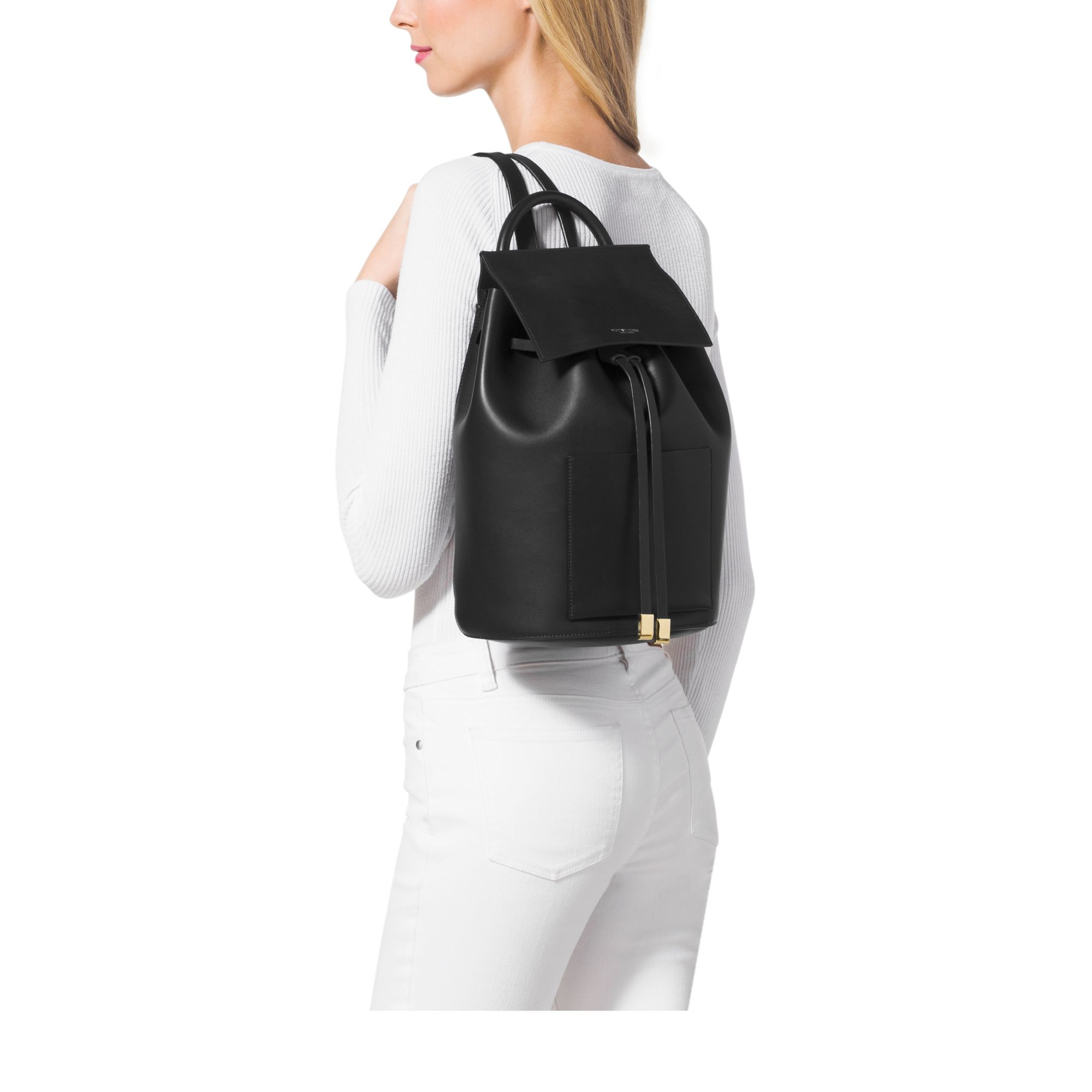 35a751defe94 Michael Kors Miranda Large French Calf Leather Backpack in Black - Lyst