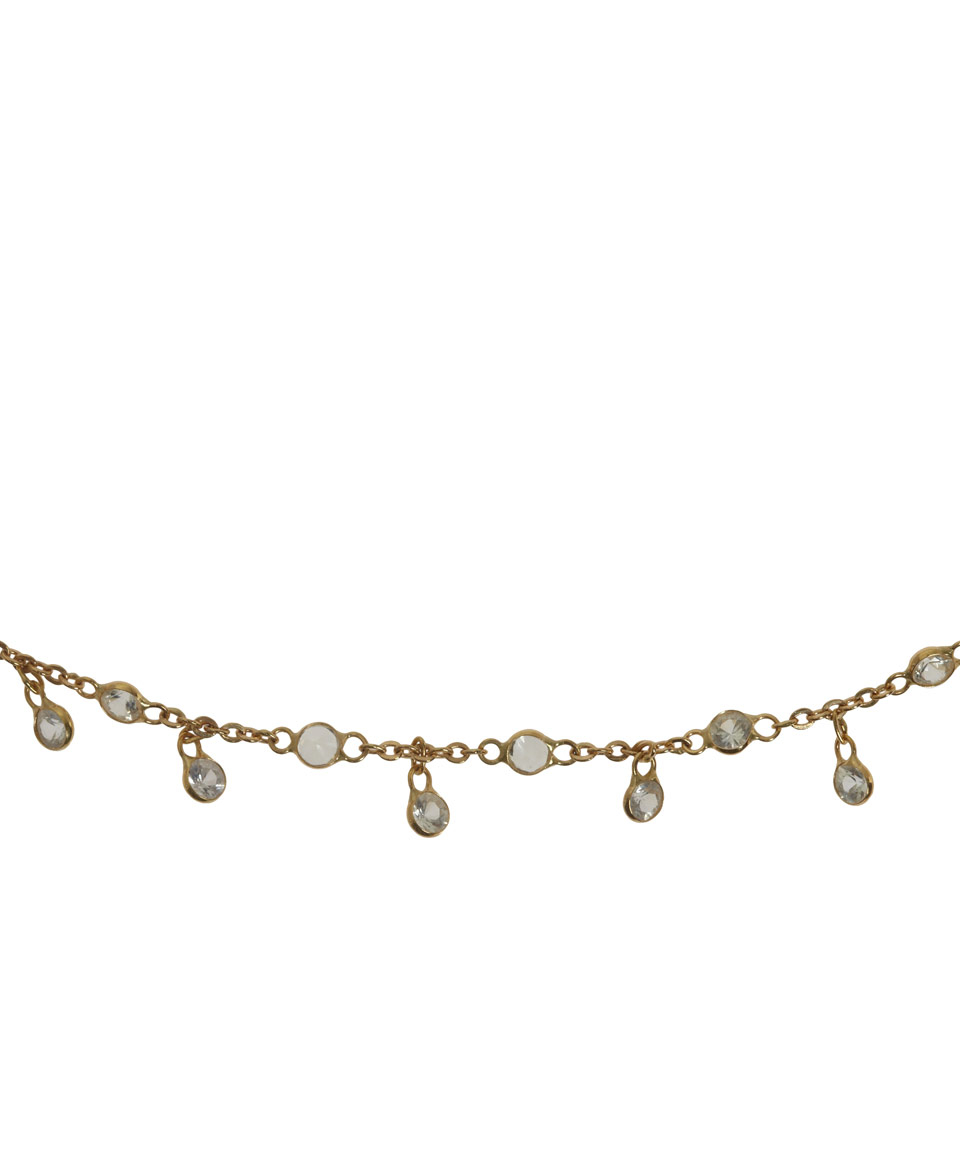 droplet riverstones necklace gold en image