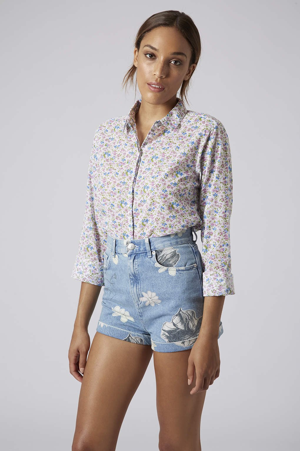 Cheap Sale Supply Great Deals Online Topshop Womens Ditsy Floral Print Shirt - Clearance Countdown Package Fast Delivery Cheap Price TvDsoppmCi