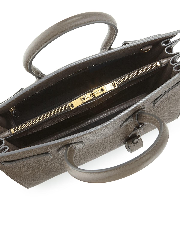 9dc068ea162c Lyst - Saint Laurent Sac De Jour Small Grained Leather Tote Bag in Gray