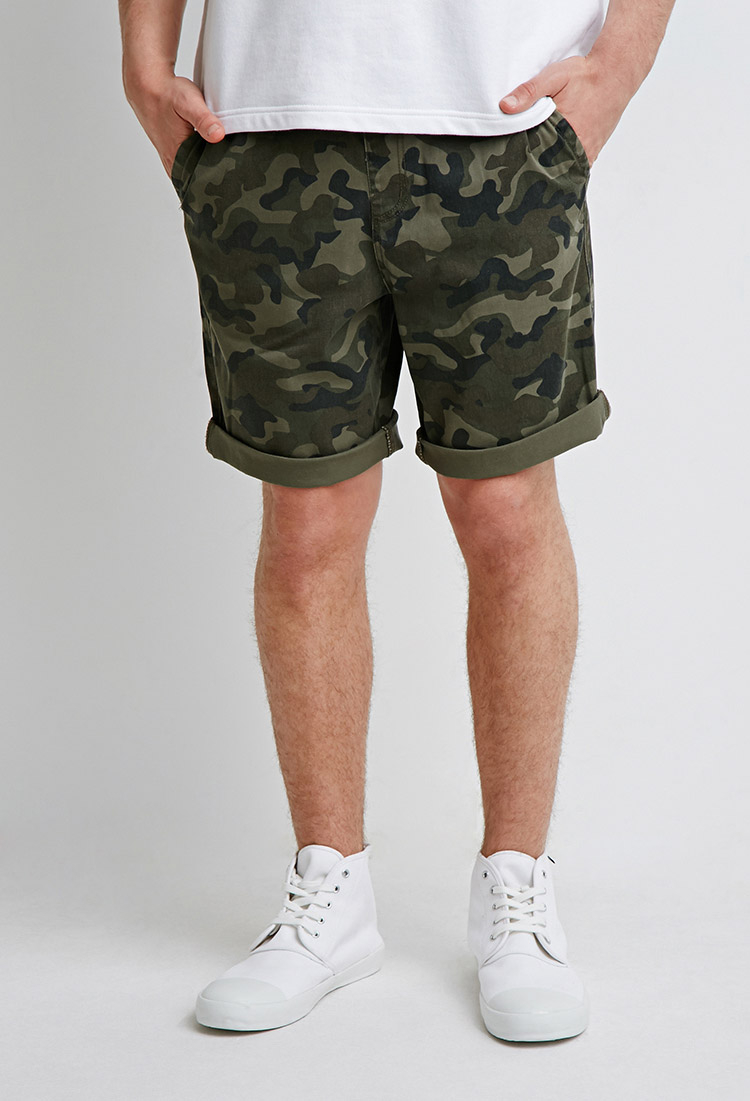 Forever 21 Drawstring Camo Shorts in Green for Men - Lyst 6ac03ddd6dc