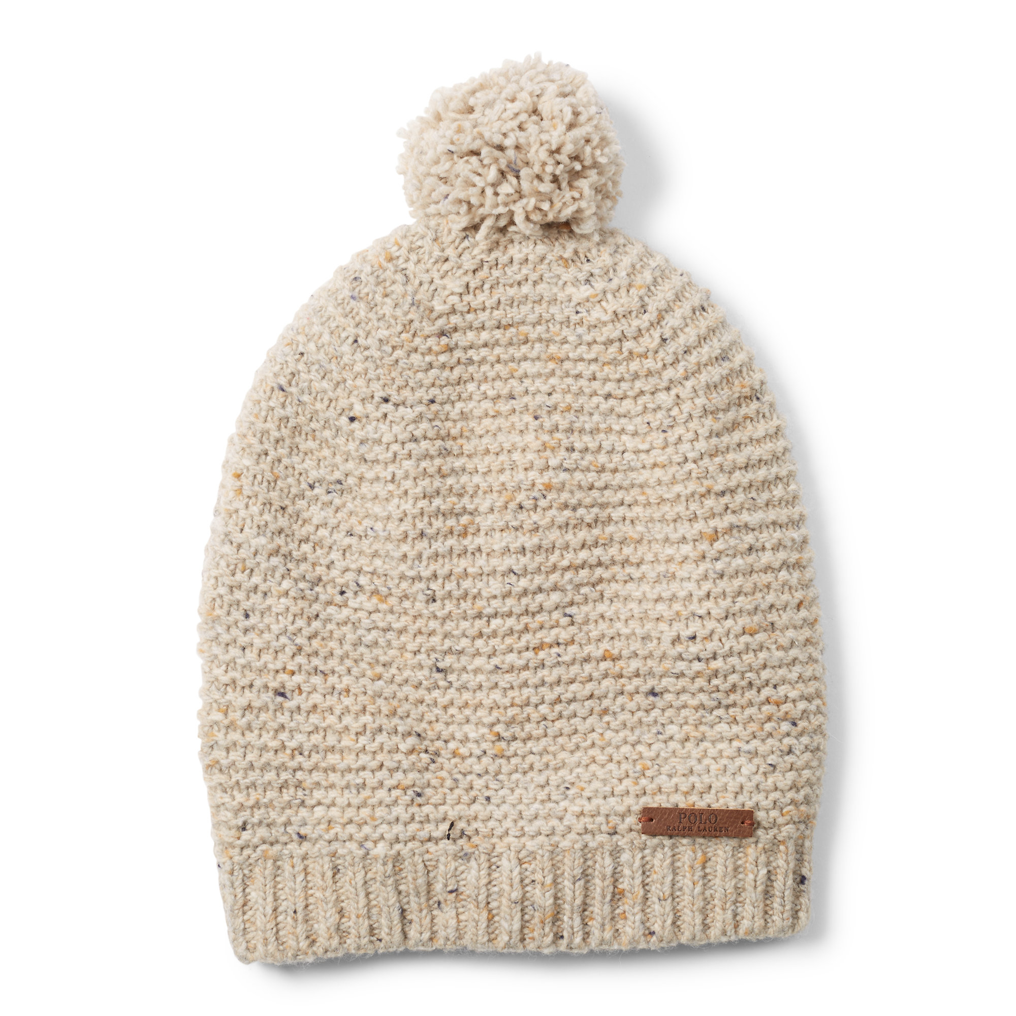 f436fc15005 Lyst - Polo Ralph Lauren Pom-pom Merino Wool–blend Hat in Natural ...