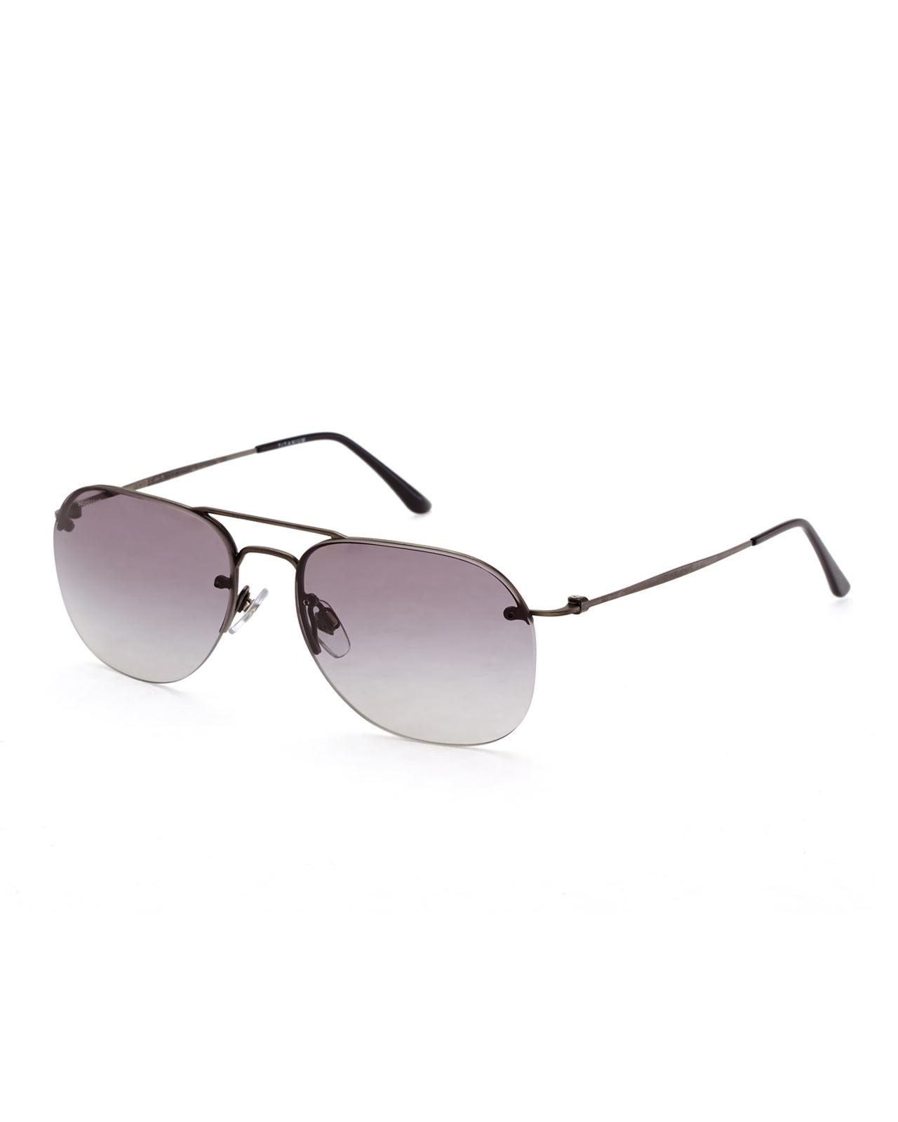 Rimless Glasses Armani : Giorgio armani Ar6004 Gunmetal Rimless Aviator Sunglasses ...