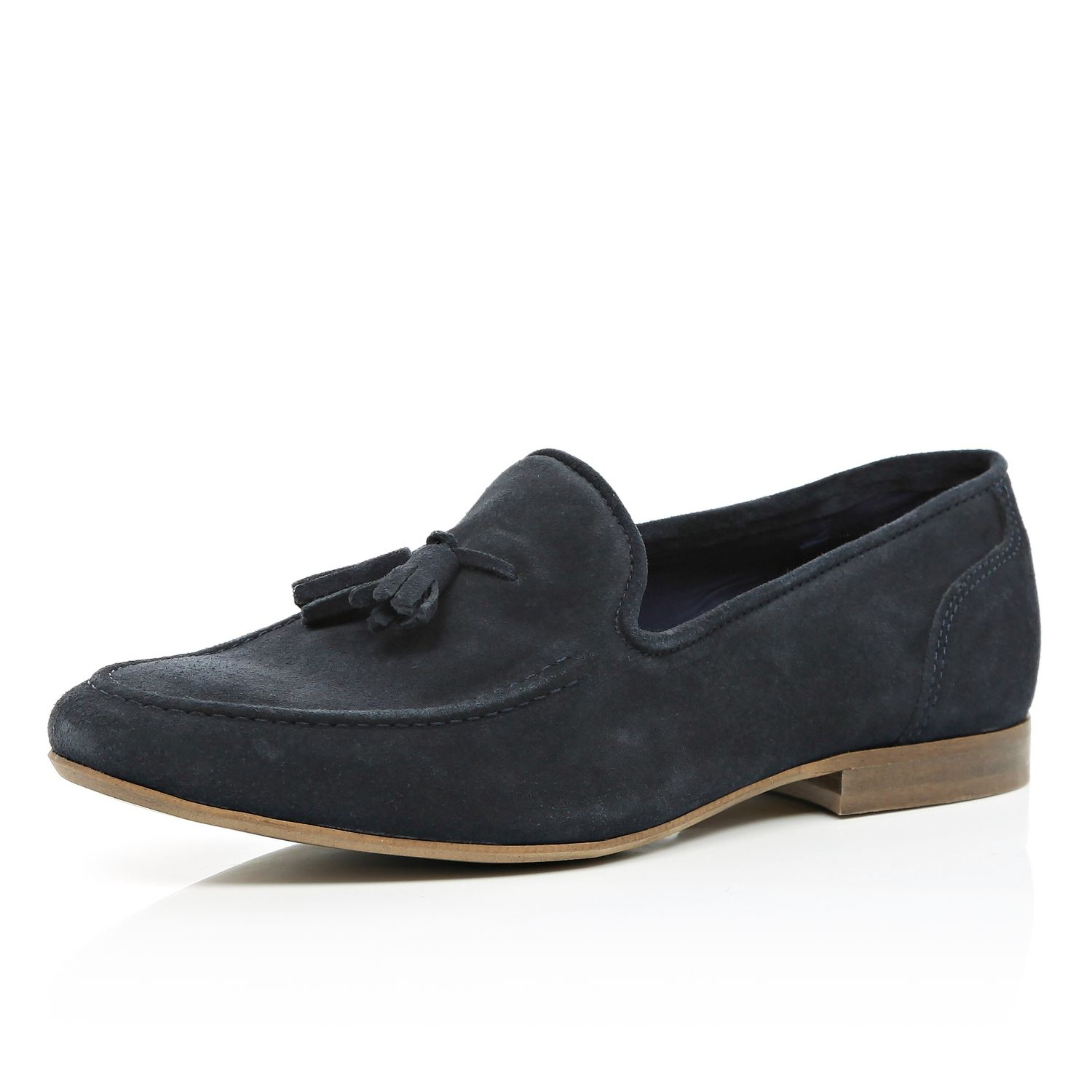 Blue Suede Loafers Mens River Island