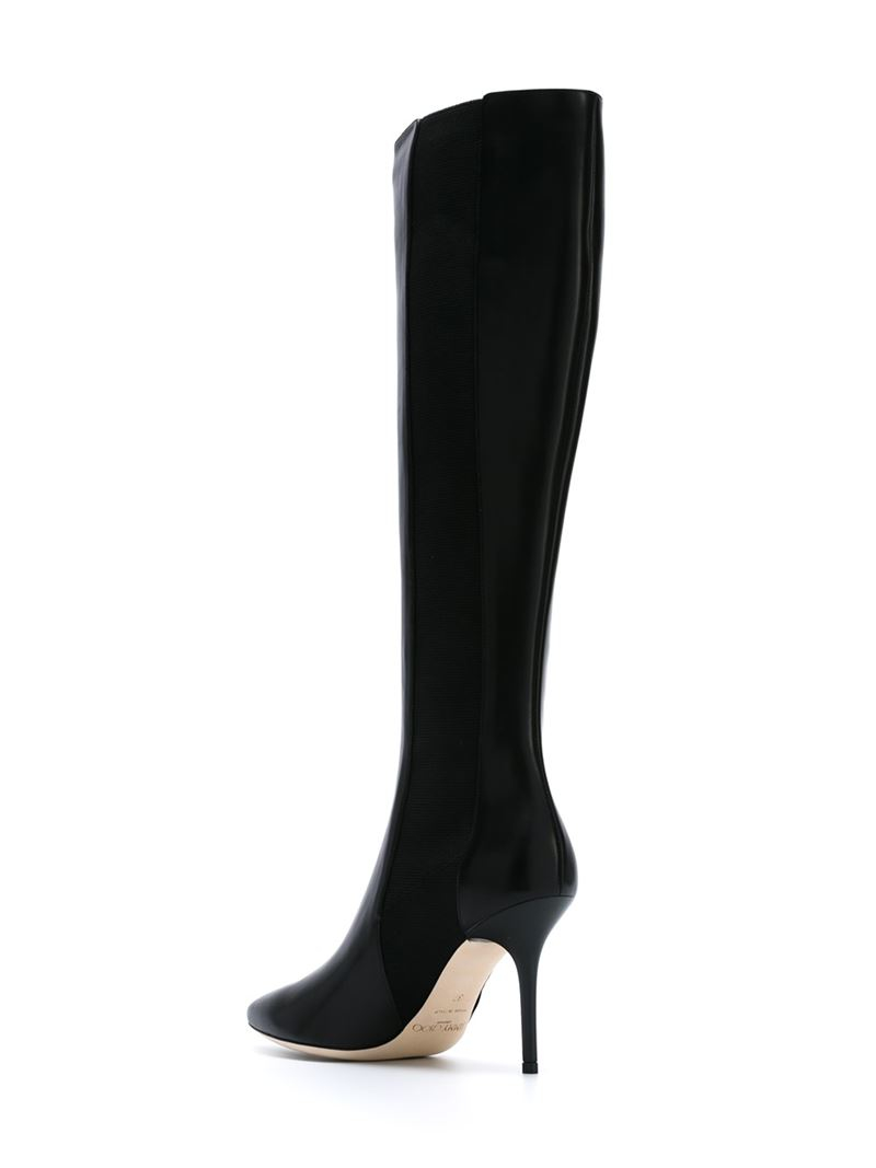 e600a12a8 Lyst - Jimmy Choo Faith Leather Knee-High Boots in Black