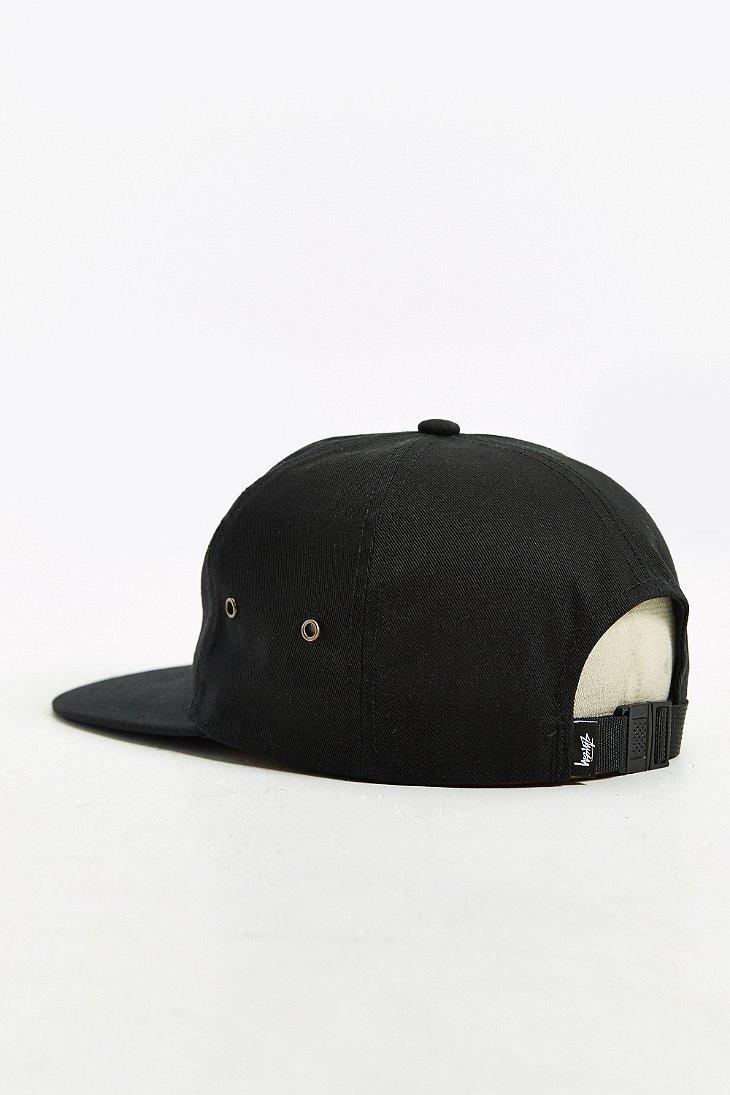 6723a270501b3f ... usa lyst stussy ss wreath strapback hat in black for men 3b510 b86cb