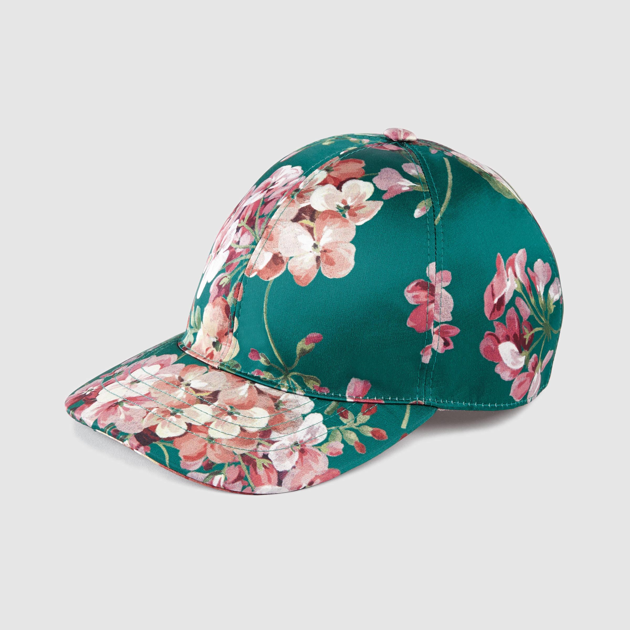 Lyst - Gucci Blooms Silk Baseball Hat in Green for Men 2b424b5f683