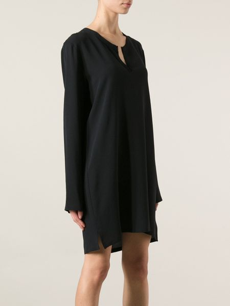 Black Loose Fitting Dresses Loose Fit Dress in Black
