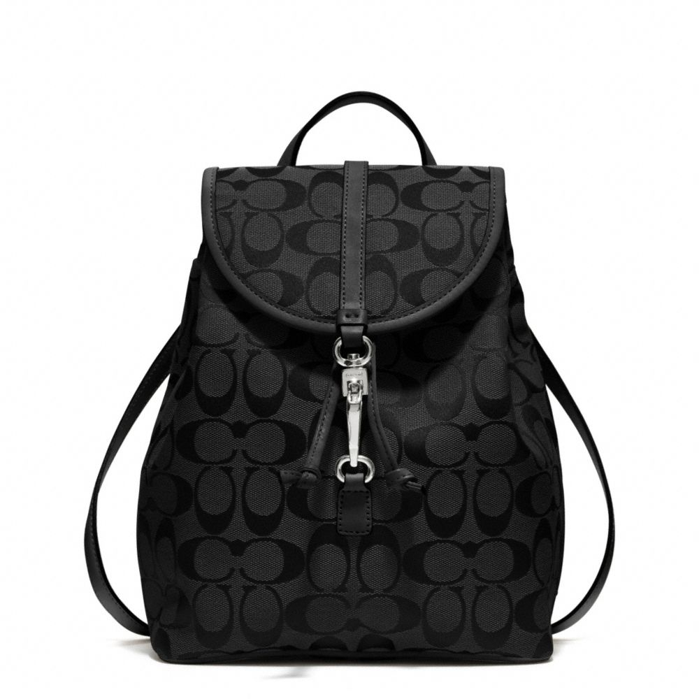 Lyst - Coach Signature Small Backpack in Black