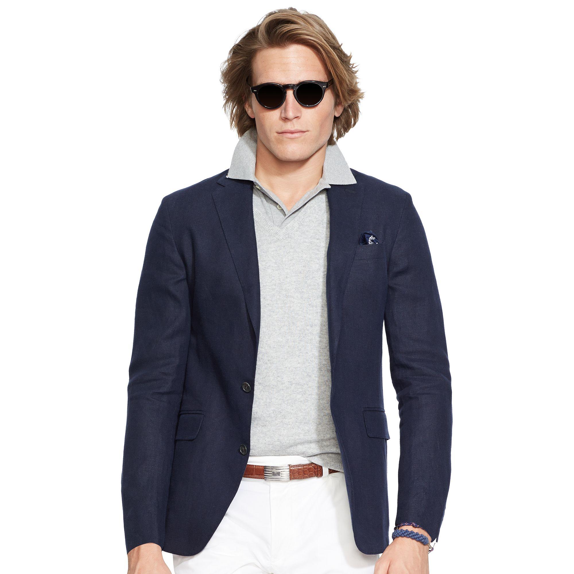 ec5001620c7fb ireland lyst polo ralph lauren mens linen estate shirt in black for ...