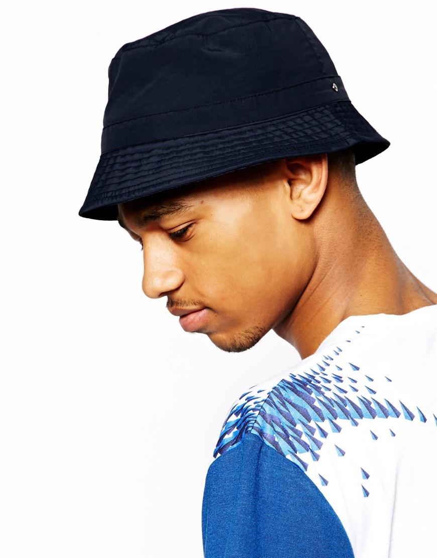 Lyst Asos Bucket Hat In Blue For Men