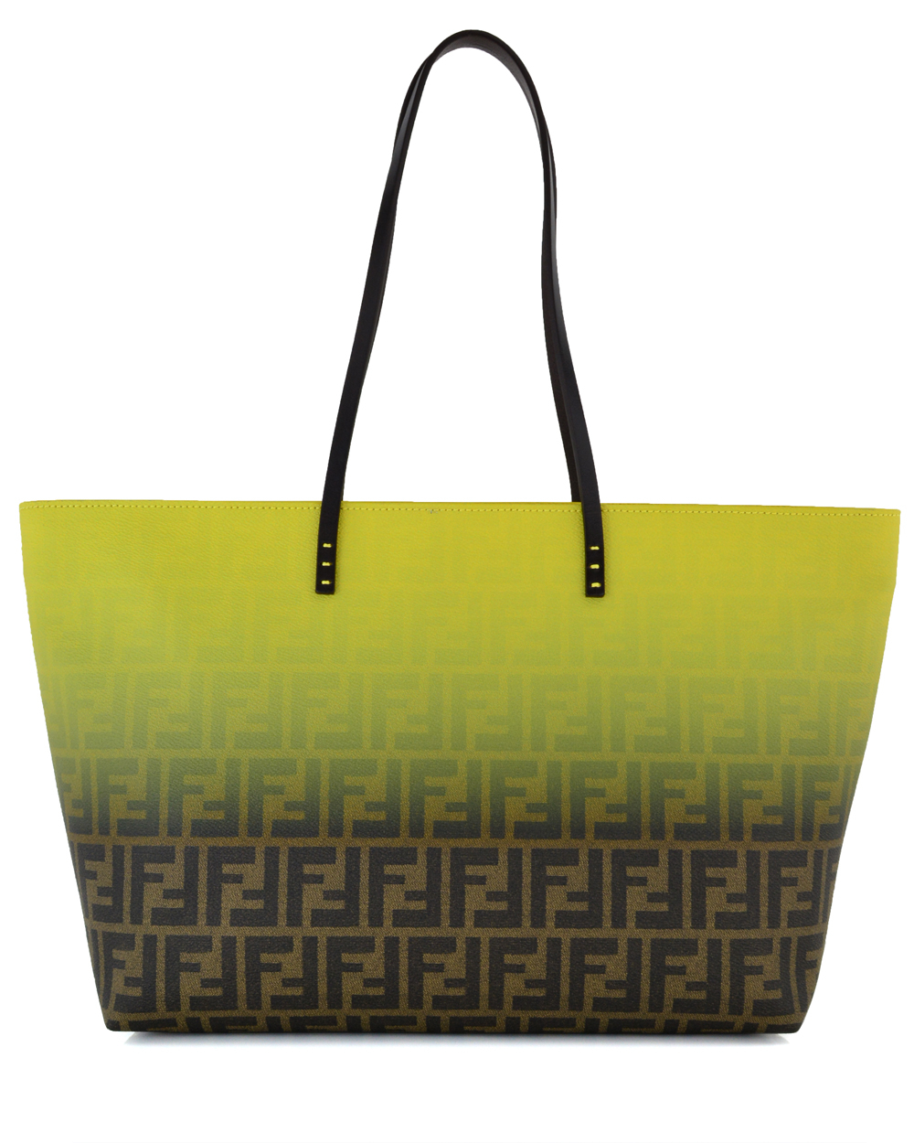 Lyst - Fendi Yellow Ombre Zucca Tote in Yellow caae65c430ffd