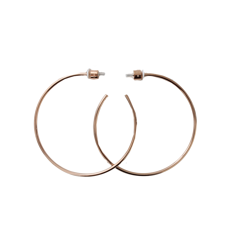 michael kors gold hoop earrings michael kors hoop earrings in gold lyst 632