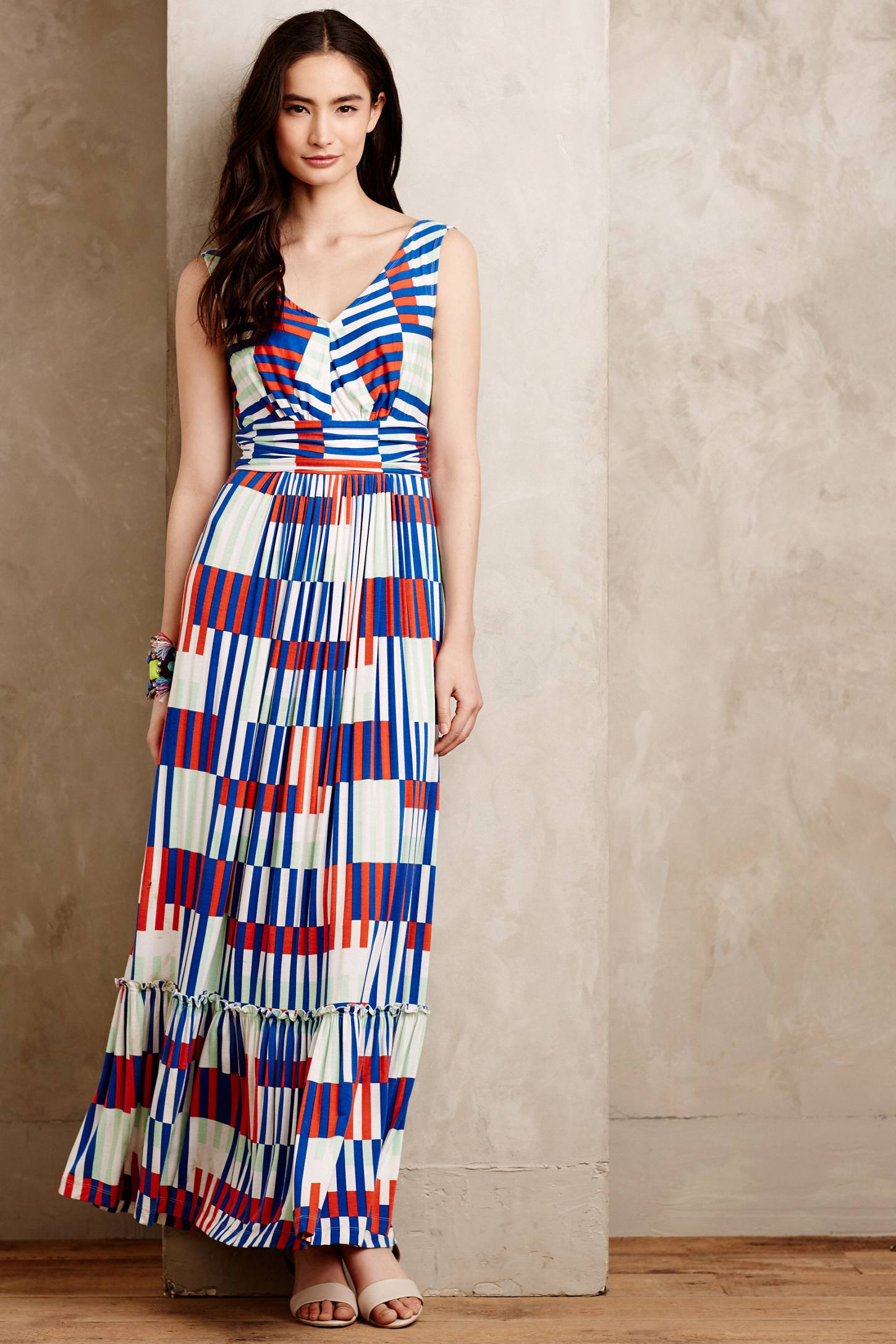 Plenty by tracy reese Boca Petite Maxi Dress in Blue | Lyst
