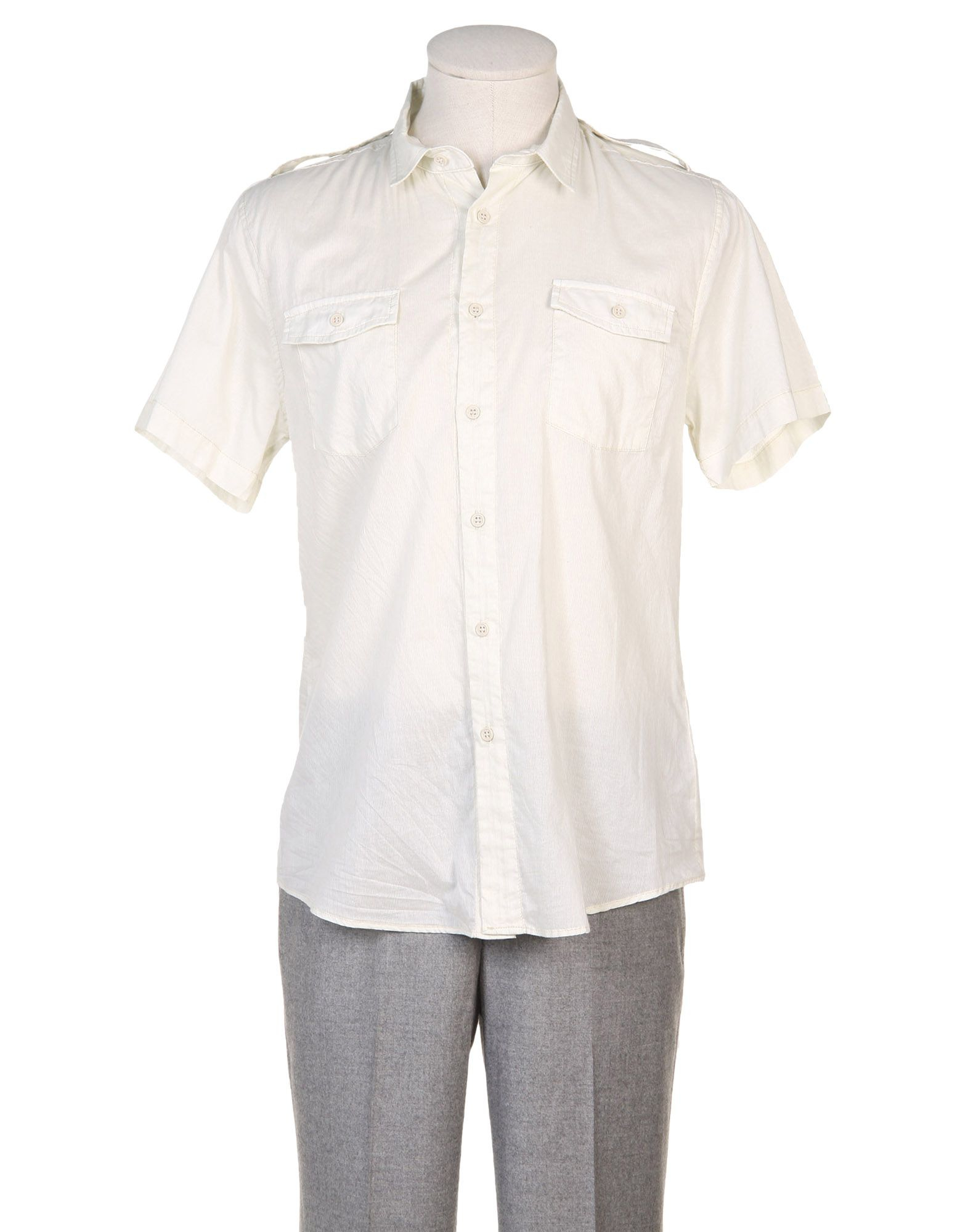 nice collective short sleeve shirt in beige for men lyst