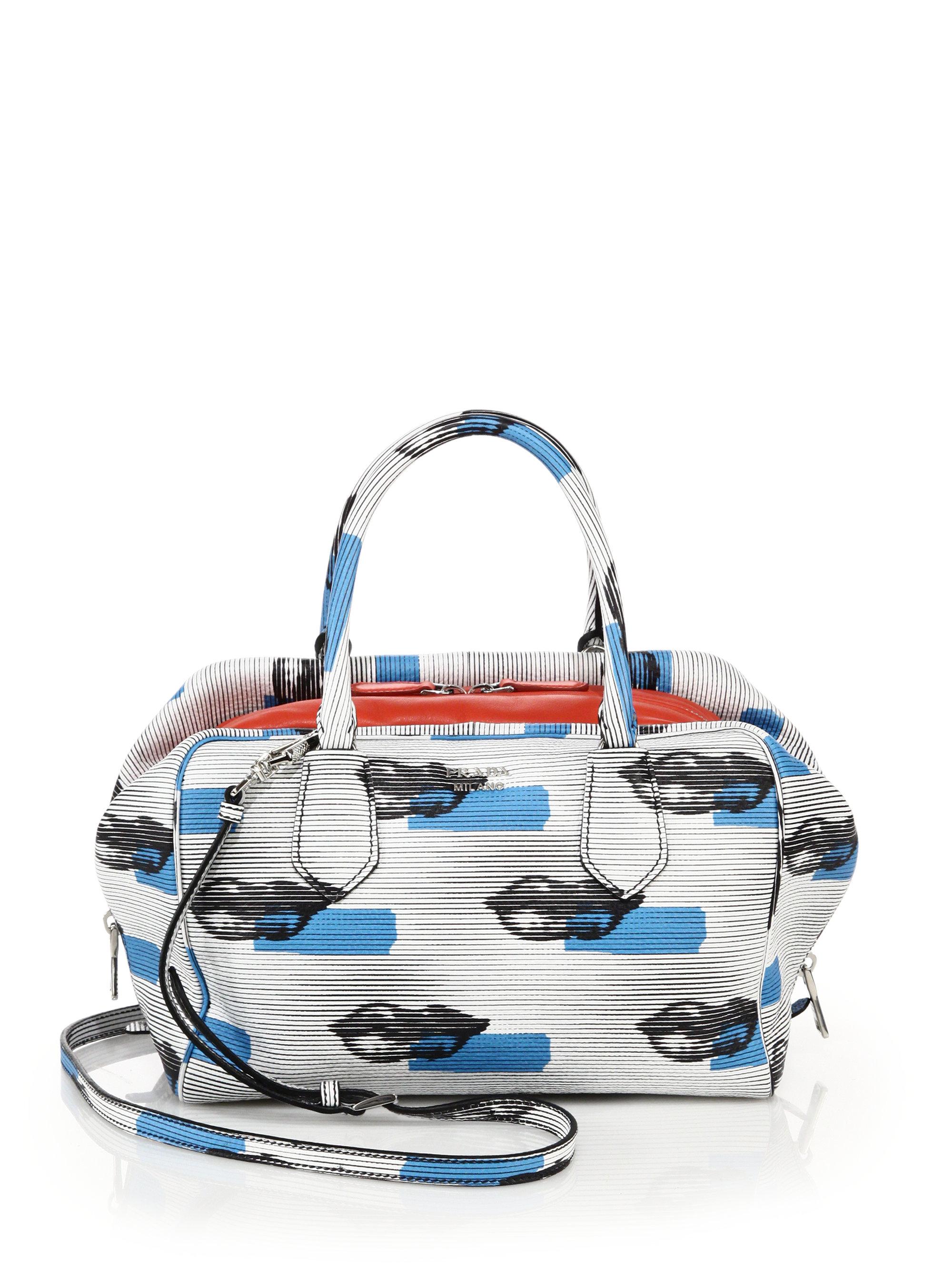 63ce89925b41d1 ... france lyst prada lip print leather inside bag in white 1f6f7 843e3