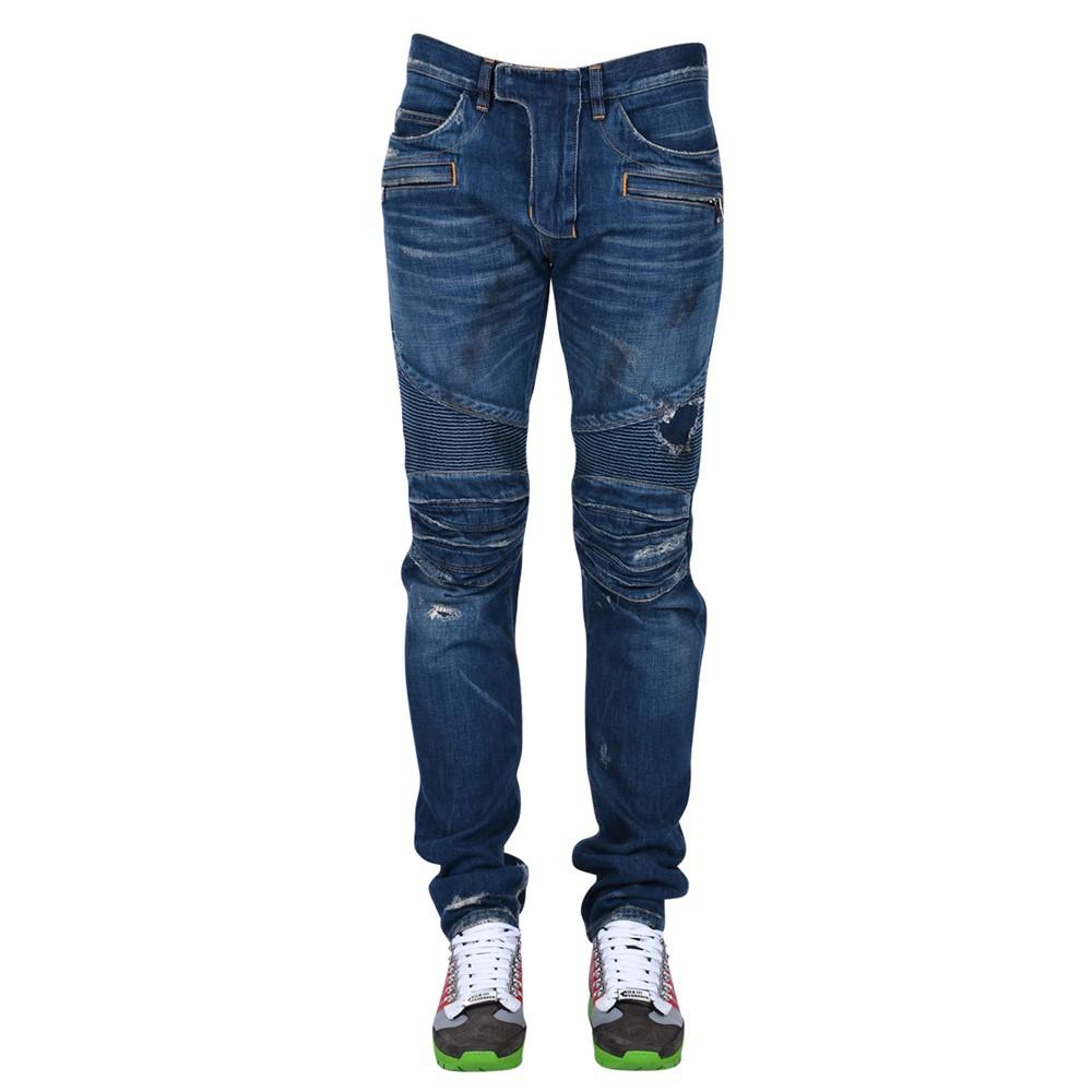 Balmain W5ht503d210d Jeans In Blue For Men Lyst