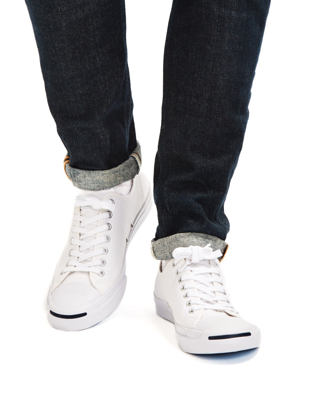 303520de554fed Lyst - Converse Jack Purcell Jack Leather Trainer White navy in ...