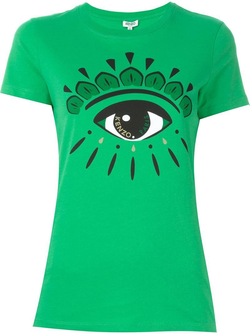ff9547499ab2c Lyst - KENZO 'eye' T-shirt in Green
