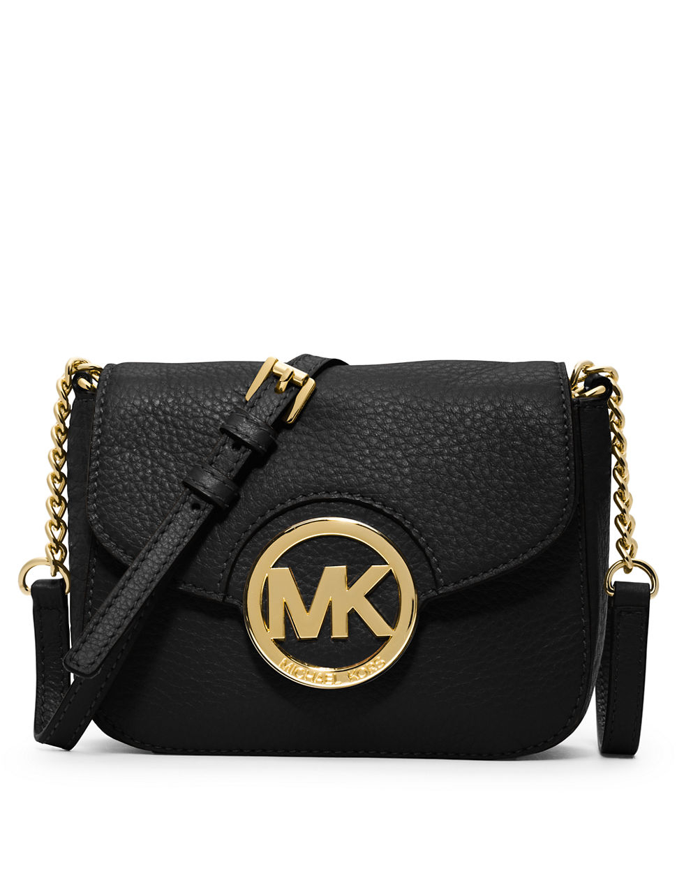 Michael Kors Fulton Leather Small Crossbody Bag In Black Lyst