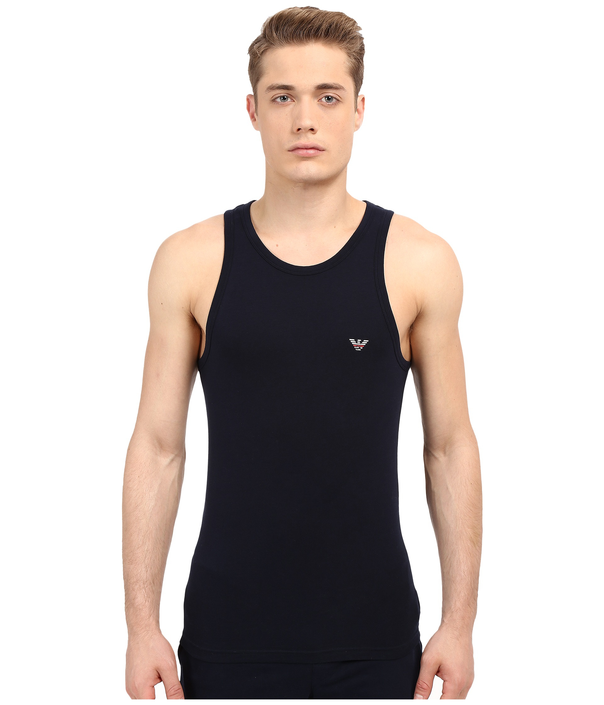 bb9ef4104484d Lyst - Emporio Armani Back To The 90 s Tank Top in Black for Men
